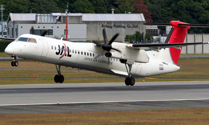 japan air commuter re u00e7oit son premier atr 42