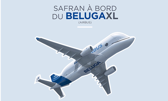 Safran à bord du premier vol du géant des airs l'Airbus BelugaXL