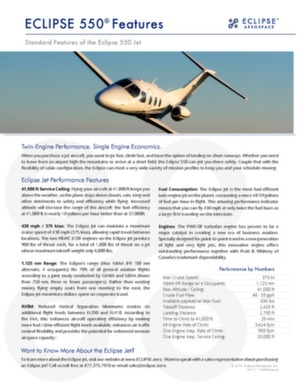 Eclipse 550 data sheet